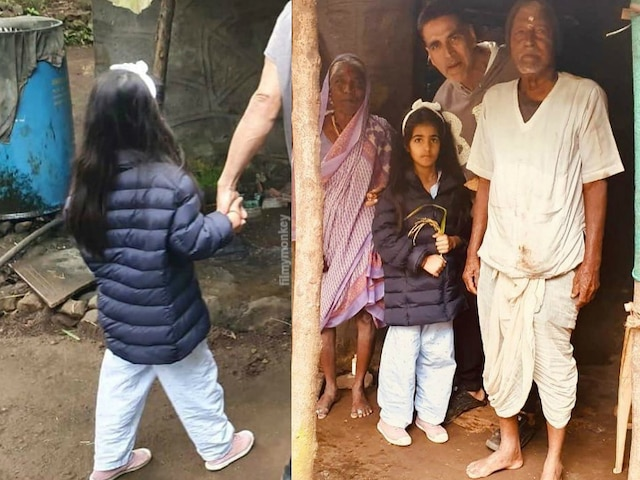 When Akshay Kumar entered an old couple's house for sip of water with daughter Nitara during morning walk, it turned into a