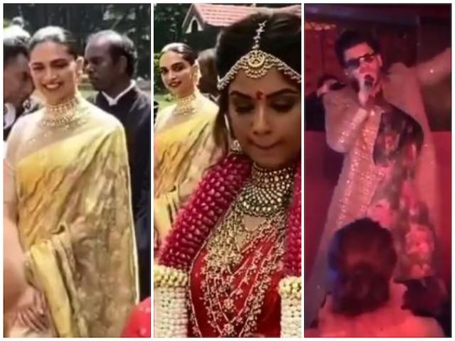 Deepika Padukone Slays In A Golden Saree At Her Friend's ...