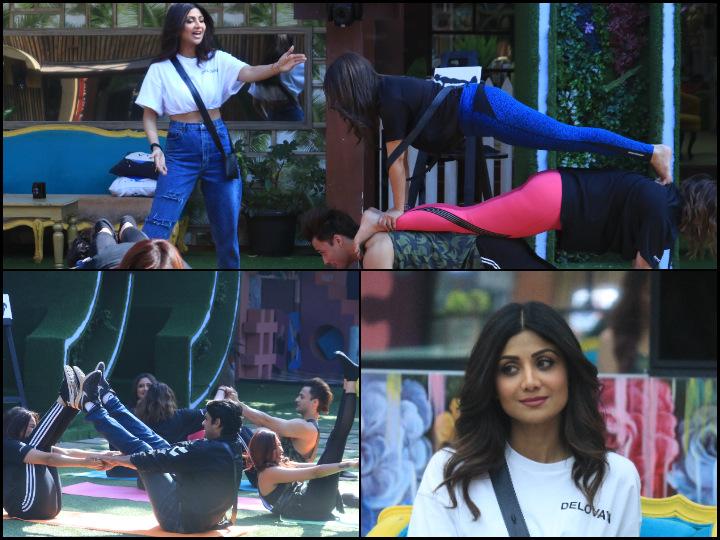 Bigg Boss 13: Shilpa Shetty's couple yoga lessons turn into comedy as Shehnaaz Gill fails miserably
