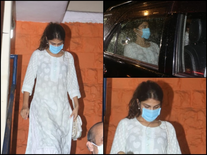Sushant Singh Rajput Suicide: Rumoured GF Rhea Chakraborty Leaves Bandra Police Station After Recording Her Statement, See PICS!
