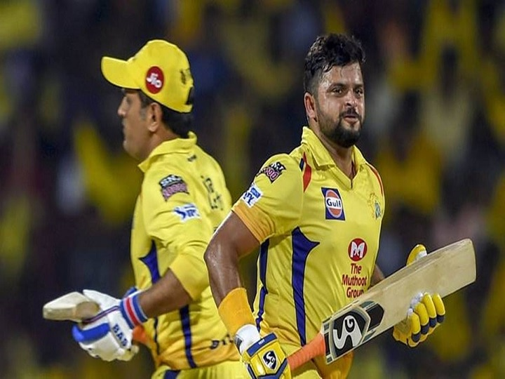 IPL 2020 Suresh Raina Whistles In Admiration After CSK Skipper Dhoni Belts Sixes At Practice Session