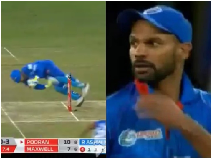 Watch: Shikhar Dhawan gives an exciting look after missing a film like Dhoni for Rishabh Pant run out
