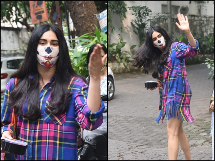 PICS: Adah Sharma Slays Everyday Fashion Look As She Gets Papped In Plaid Shirt & Cool Mask