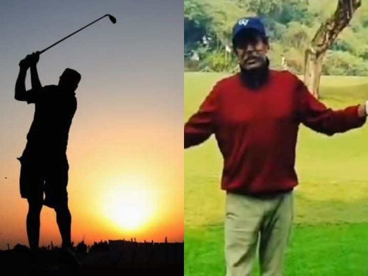 'Champion is back in action', Kapil Dev fans enjoy playing golf after recovering from a heart attack