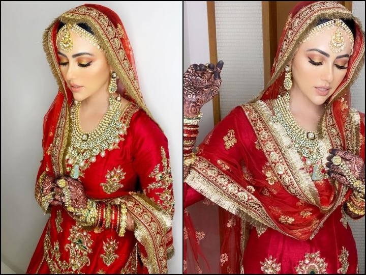 Ex Bigg Boss Contestant Sana Khan Shares Unseen PICS From Wedding, Flaunts Her 'Walima Look'