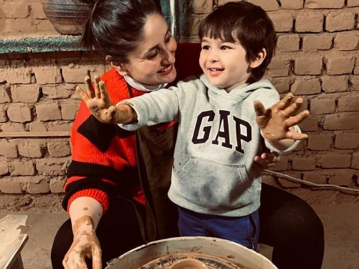 WATCH | Mommy Kareena With Little Taimur Try Hands At Pottery During Vacation In Dharamkot