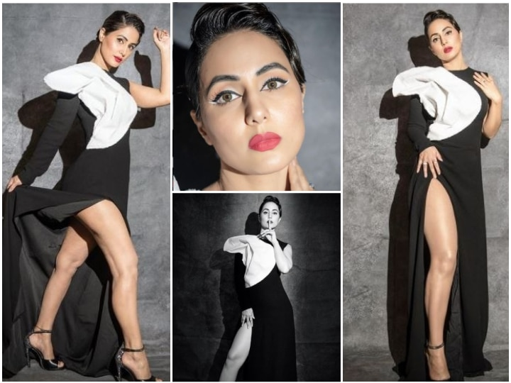 Gold Awards 2020: Hina Khan Looks Stunningly Gorgeous In A Black And White Gown; See PICS
