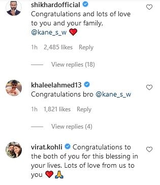 IN PIC: NZ Skipper Kane Williamson Blessed With A Baby Girl. Kohli, Dhawan Send Congratulatory Messages