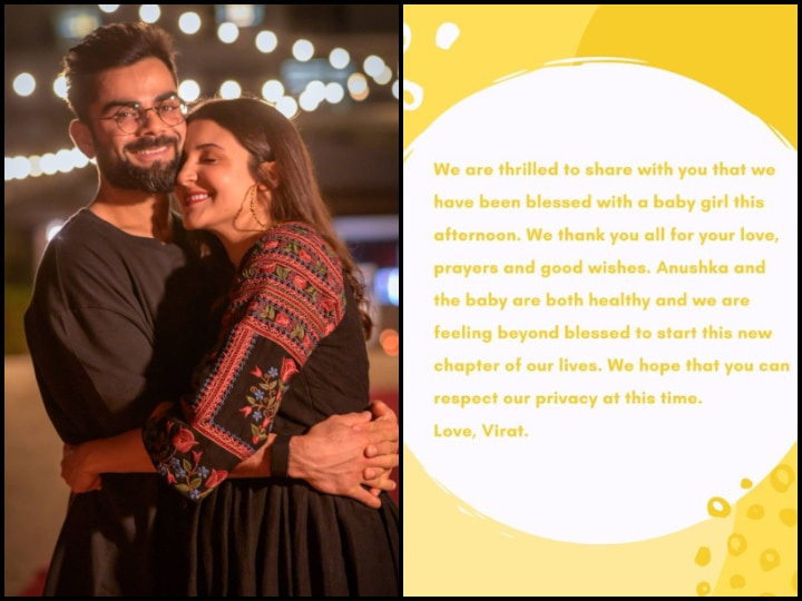 Anushka Sharma, Virat Kohli Welcome Baby Girl; Wishes Pour In For Young Parents