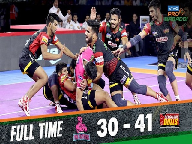 Pro Kabaddi League 2019 Bengaluru Bulls Beats Jaipur Pink Panthers