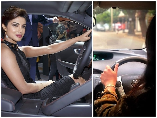 Priyanka Chopra Jonas takes to driving Social Media Users wondering how is it getting back at right hand driving in India