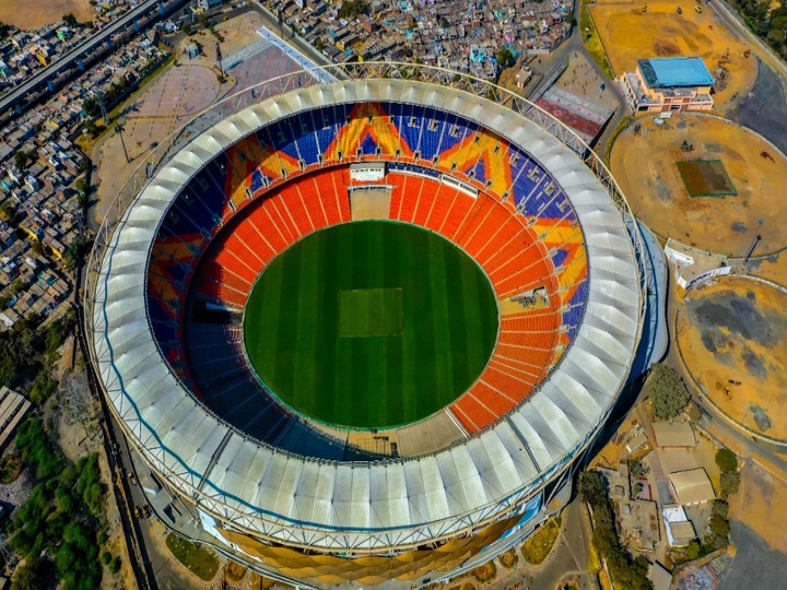 Motera Stadium Sardar Patel Stadium , largest stadium in world cricket, biggest stadium in world cricket,