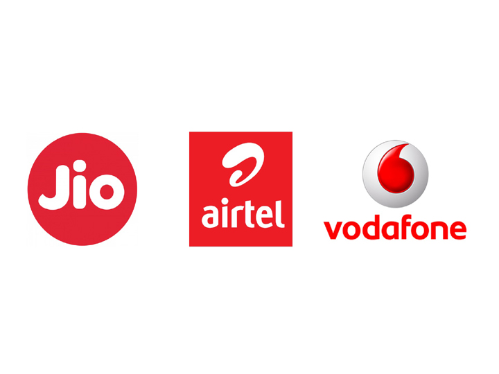 Airtel Reliance jio Vodafone recharge plan offering daily 1gb data