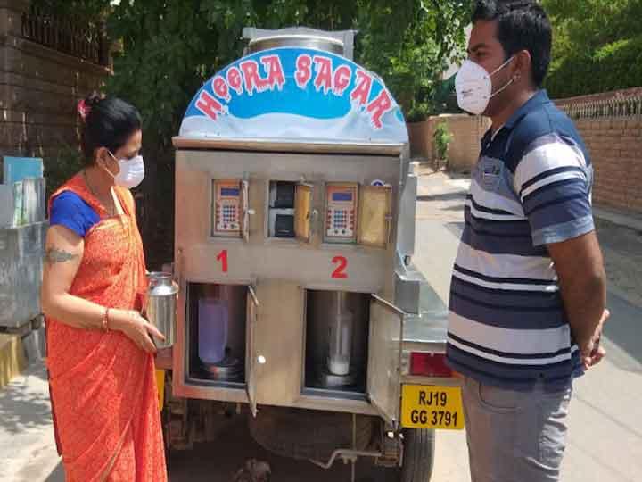 Milk atm made for selling milk in Jodhpur ANN