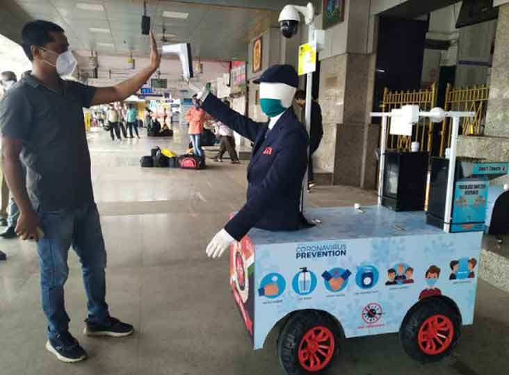Central Railway makes Captain Arjun robot will do thermal screening of passengers at railway station ANN