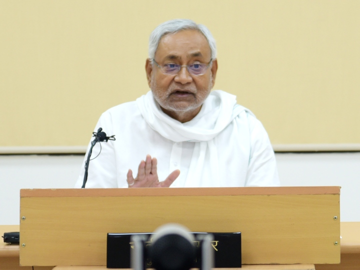 Nitish Kumar exited CM office and residence for the first time in Corona Period ANN