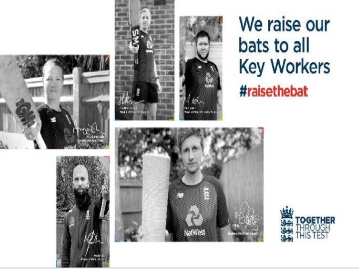 ECB announces RaiseTheBat Test Series with players wearing key worker names on shirts