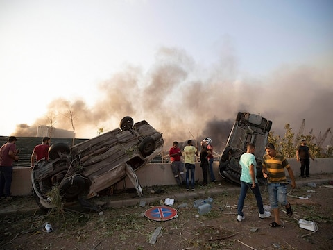 Photos: तस्वीरों में देखिए भीषण विस्फोट से किस तरह दहली लेबनान की राजधानी बेरूत