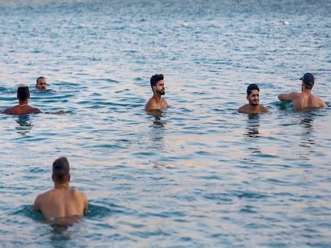 Delhi Capitals team took a break, the players enjoyed a lot on the beach