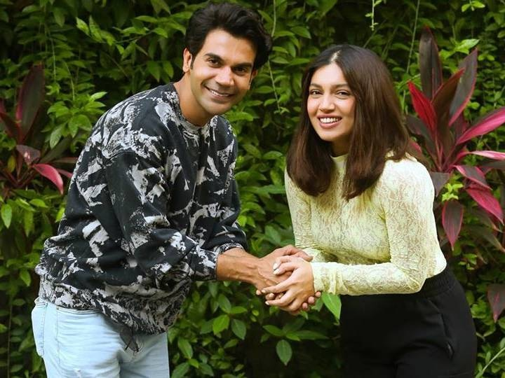 Bhoomi pednekar Shared a picture with rajkummar rao and annoucement for Badhaai Do sequel of badhaai ho