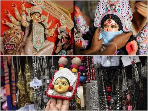 Durga Puja 2020 Photos: कोरोना के बीच धूम धाम से हो रहा है दुर्गा पूजा का आयोजन, देखिए शानदार तस्वीरें