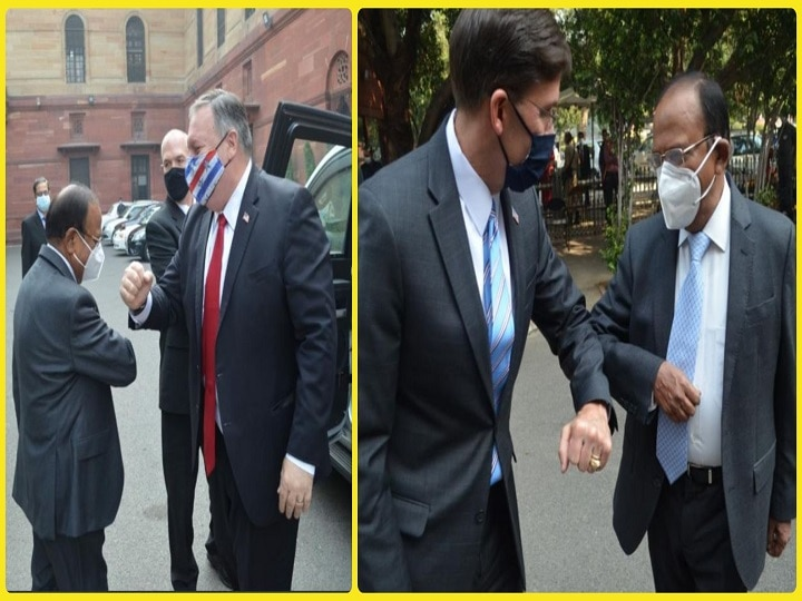 NSA Ajit Doval had a meeting with US Secretary of State Mike Pompeo and US Secretary of Defense Mark Esper