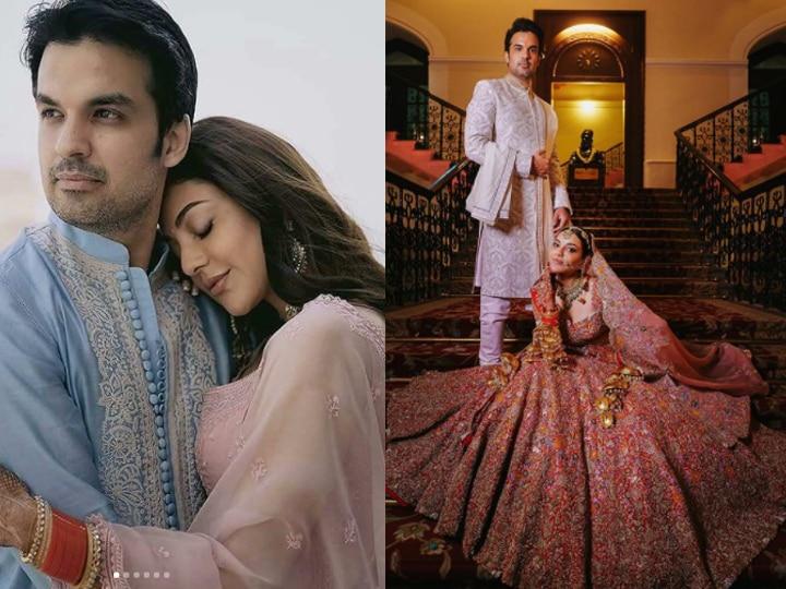 Viral Wedding Pictures Of Actress Kajal Aggarwal | काजल अग्रवाल की शादी की  तस्वीरें हुईं वायरल, दूल्हा-दुल्हन के अंदाज़ देखते रह जाएंगे आप