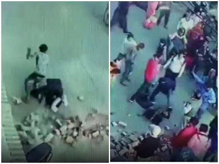 under-construction pillar collapses on pedestrian passing by from below in Rajasthan Bharatpur