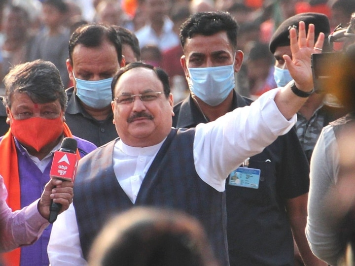 BJP election rath attacked in Purulia of West Bengal JP Nadda allegation on TMC