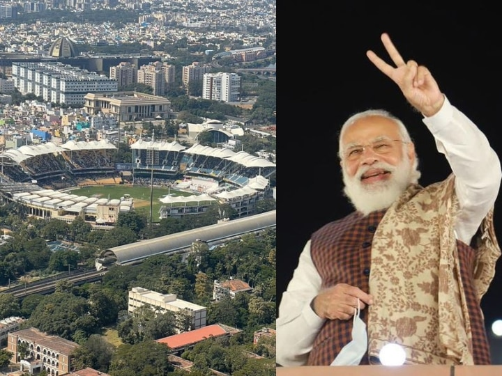 PM Modi sees Chennai test from helicopter, share this special picture
