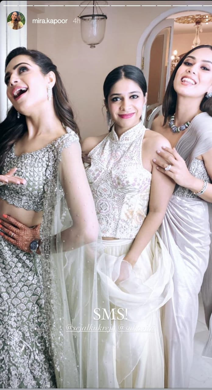 Shahid Kapoor's wife Mira robbed her beauty friend's wedding, see Stunning Look