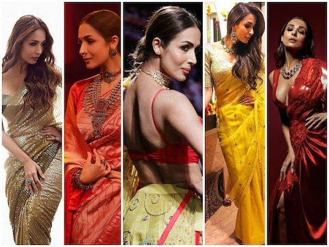 Whenever you wear a sari, Malaika Arora came out of the house, robbed millions of hearts, a sari is more than one lakh expensive