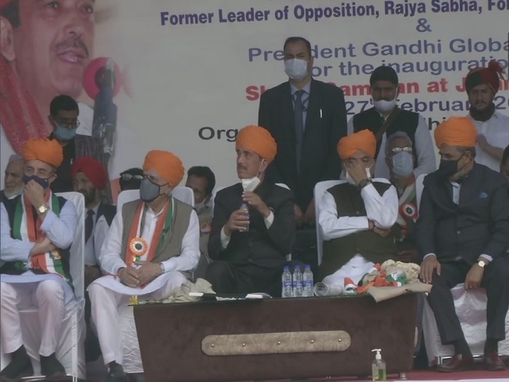 Ghulam Nabi Azad Takes 'G23' Congress Delegation hold a rally in Jammu