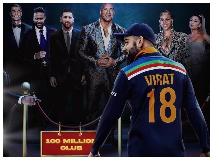 Virat Kohli Becomes First Cricketer To Reach 100 Million Followers On  Instagram, ICC Applauds Team India Captain | Virat Kohli Instagram  Followers: इंस्टाग्राम पर 100 मिलियन फॉलोवर्स पाने वाले पहले ...