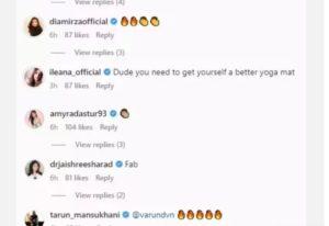 Varun Dhawan did an open workout, Ileana said- buy a good yoga mat for yourself