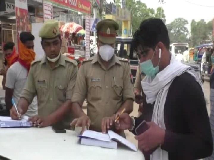 गोरखपुर: वैश्विक महामारी कोरोना ने बजाई खतरे की घंटी, सड़क पर निकले एडीजी और एसएसपी, काटा चालान