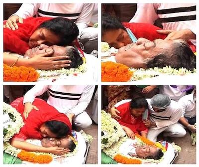 Somen Mitra Cremated At Nimtala Mahashamshan Ghat | 'তুমি ...