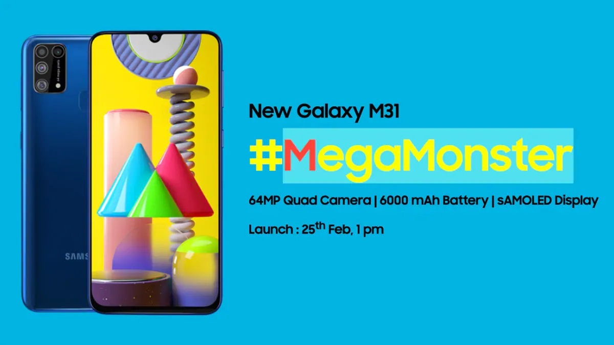 samsung galaxy m31 with 6000 mah battery will be launched in india today