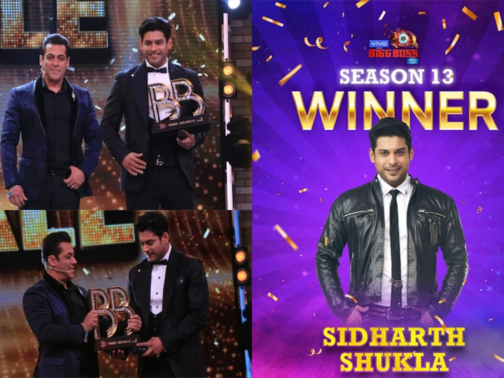 Image result for siddharth shukla win bigg boss 13 trophy